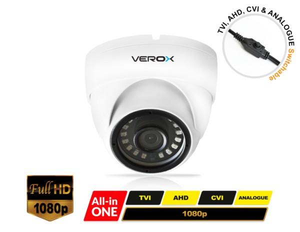 RV12UNI-W Verox All in one Eyeball White Dome Camera